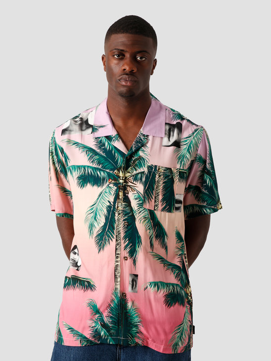 HUF Molly Resort Shortsleeve Shirt Coral Pink BU00070