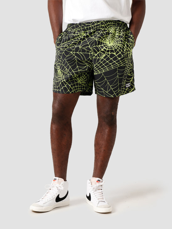 Obey Easy Relaxed Web Short Lime 172120062 LME