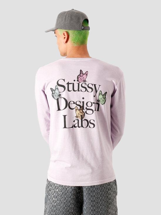 Stussy Design Labs Pigment Dyed Longsleeve T-Shirt Lavendar 1994562