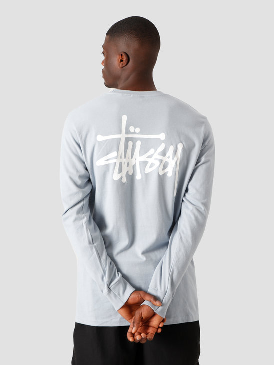 Stussy Basic Longsleeve T-Shirt Slate 1994535