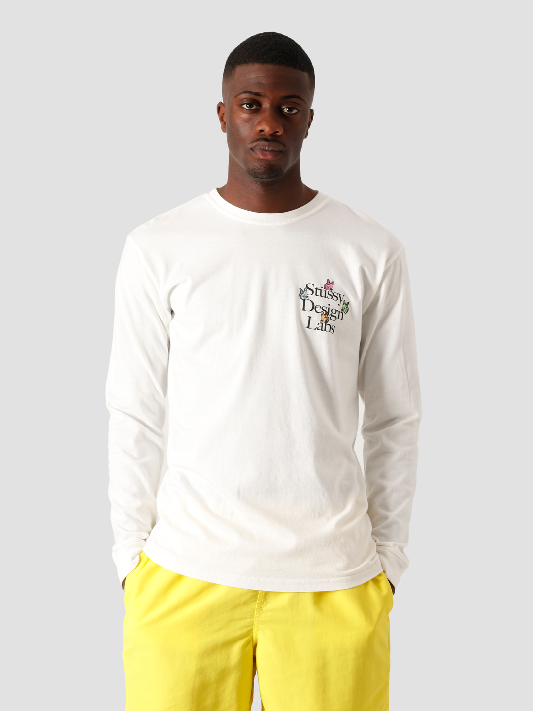 Stussy Stussy Design Labs Pigment Dyed Longsleeve T-Shirt Natural 1994562