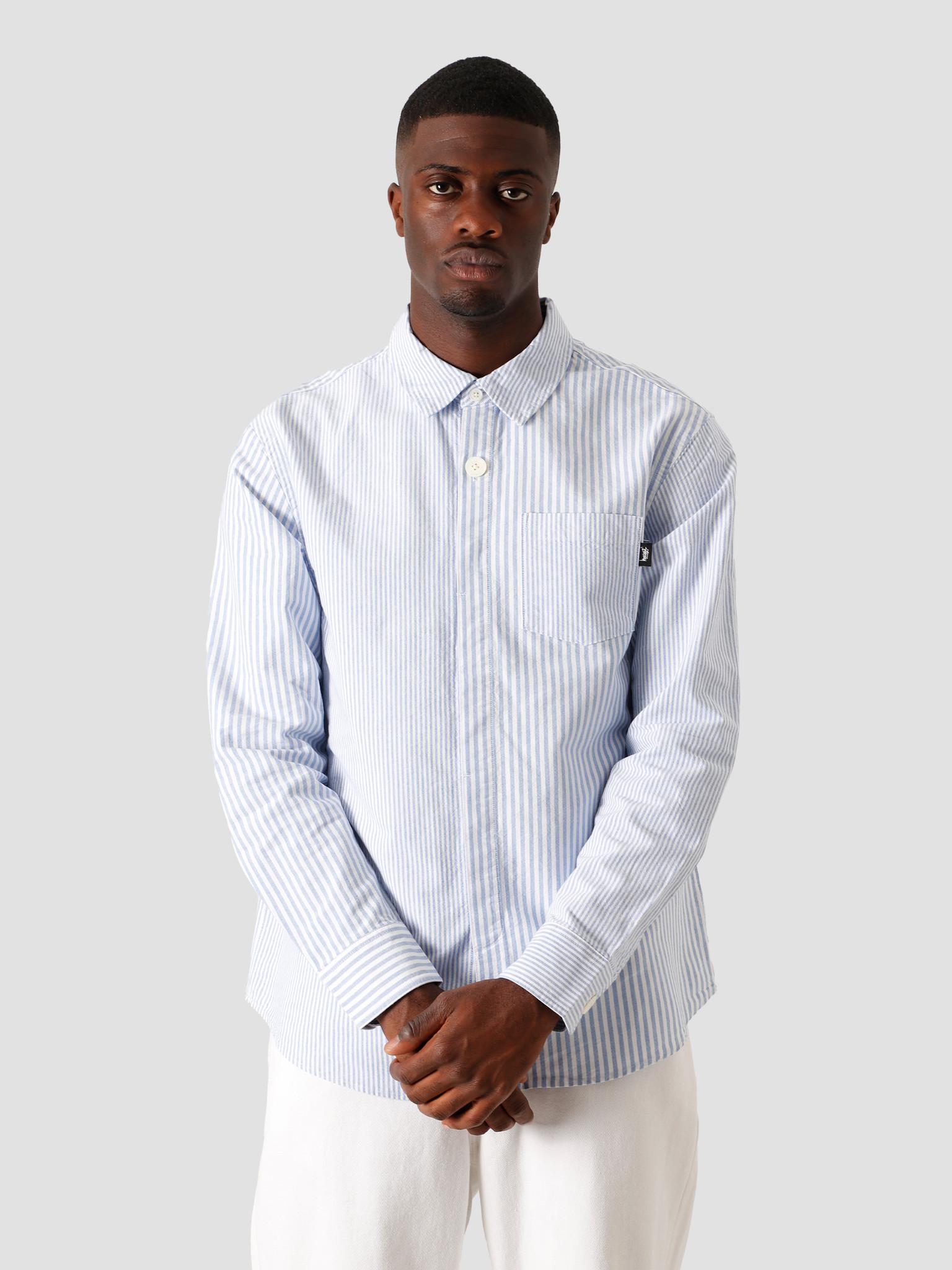 Stussy Stussy Big Button Oxford Longsleeve Shirt Blue 1110111