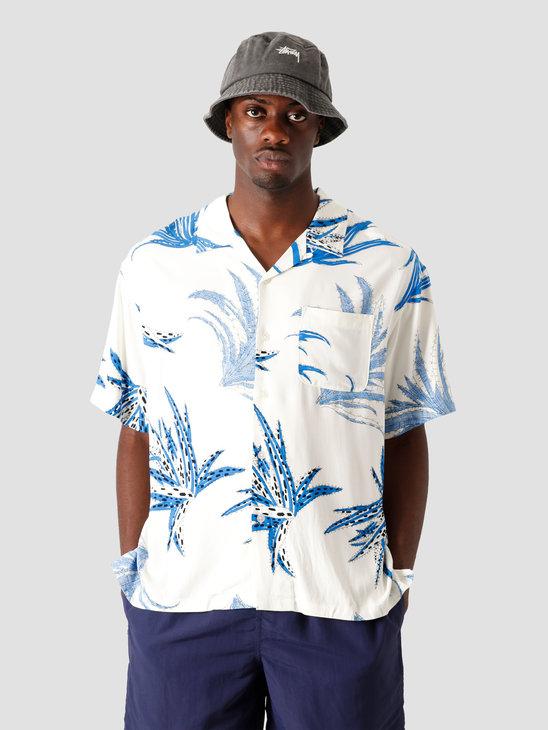 Stussy Cactus Rayon Shirt White 1110112