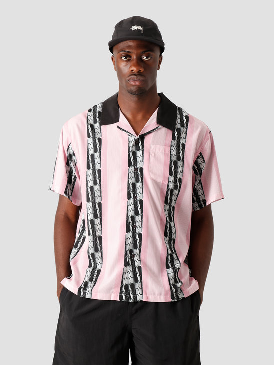 Stussy Deco Striped Shirt Pink 1110118