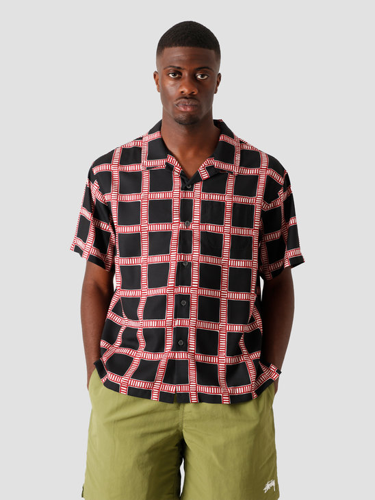Stussy Hand Drawn Plaid Shirt Black 1110117