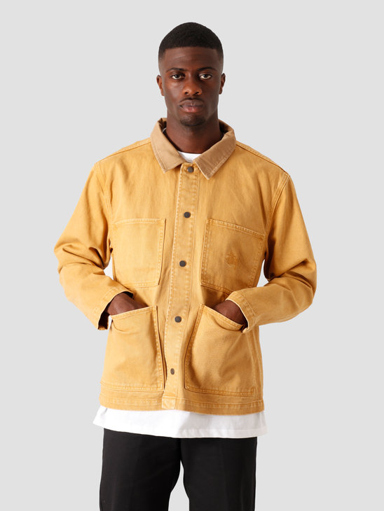 Stussy Heavy Wash Chore Jacket Gold 115510