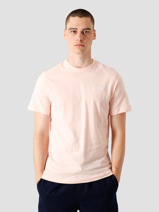 Nike NSW Club T-Shirt Washed Coral White AR4997-664