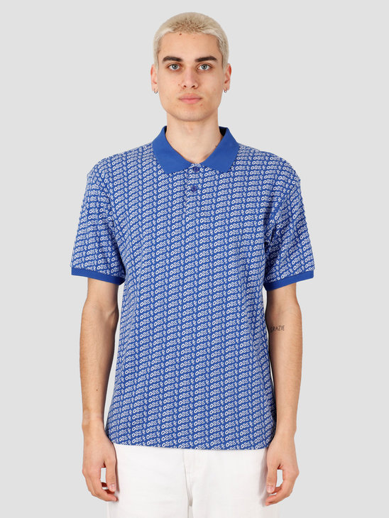 Obey Cutter Polo Knits Blue Multi 131090053-BMU
