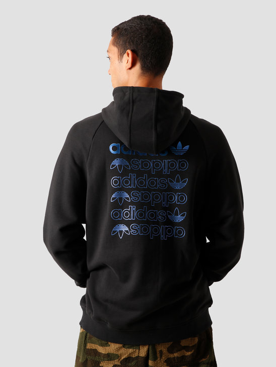 adidas Zeno Hoodie Black Royal Blue GD0986