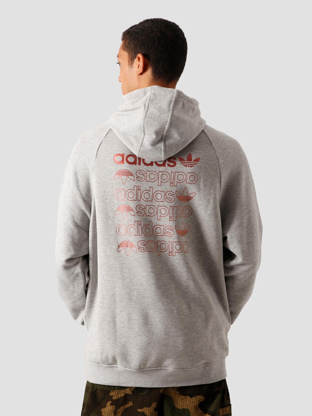 adidas adidas Zeno Hoodie Medium Grey Heather Scarle GD0985