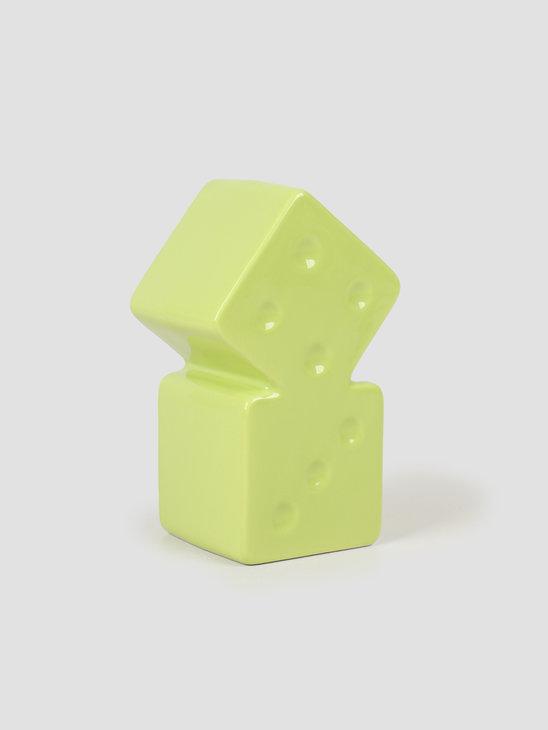 Stussy Dice Ceramic Vase Lime 138703