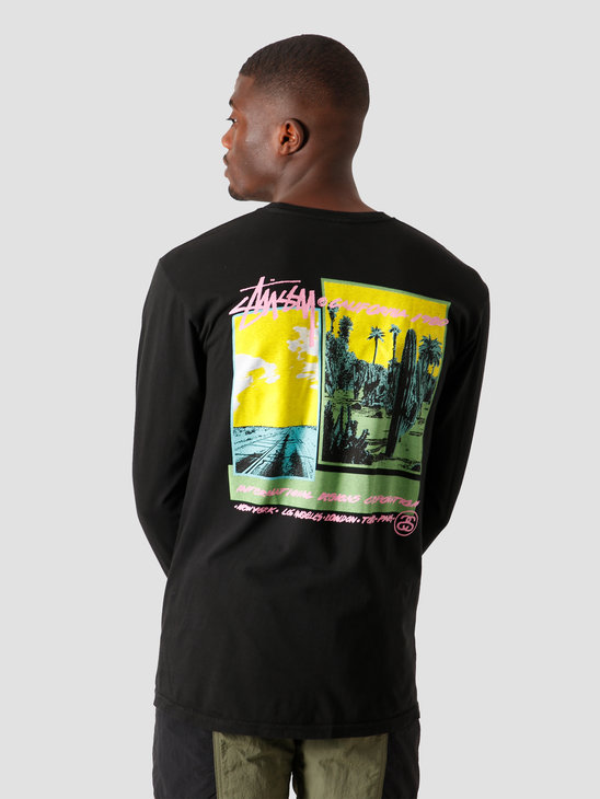 Stussy Palm Desert Pigment Dyed Longsleeve Black 1994563