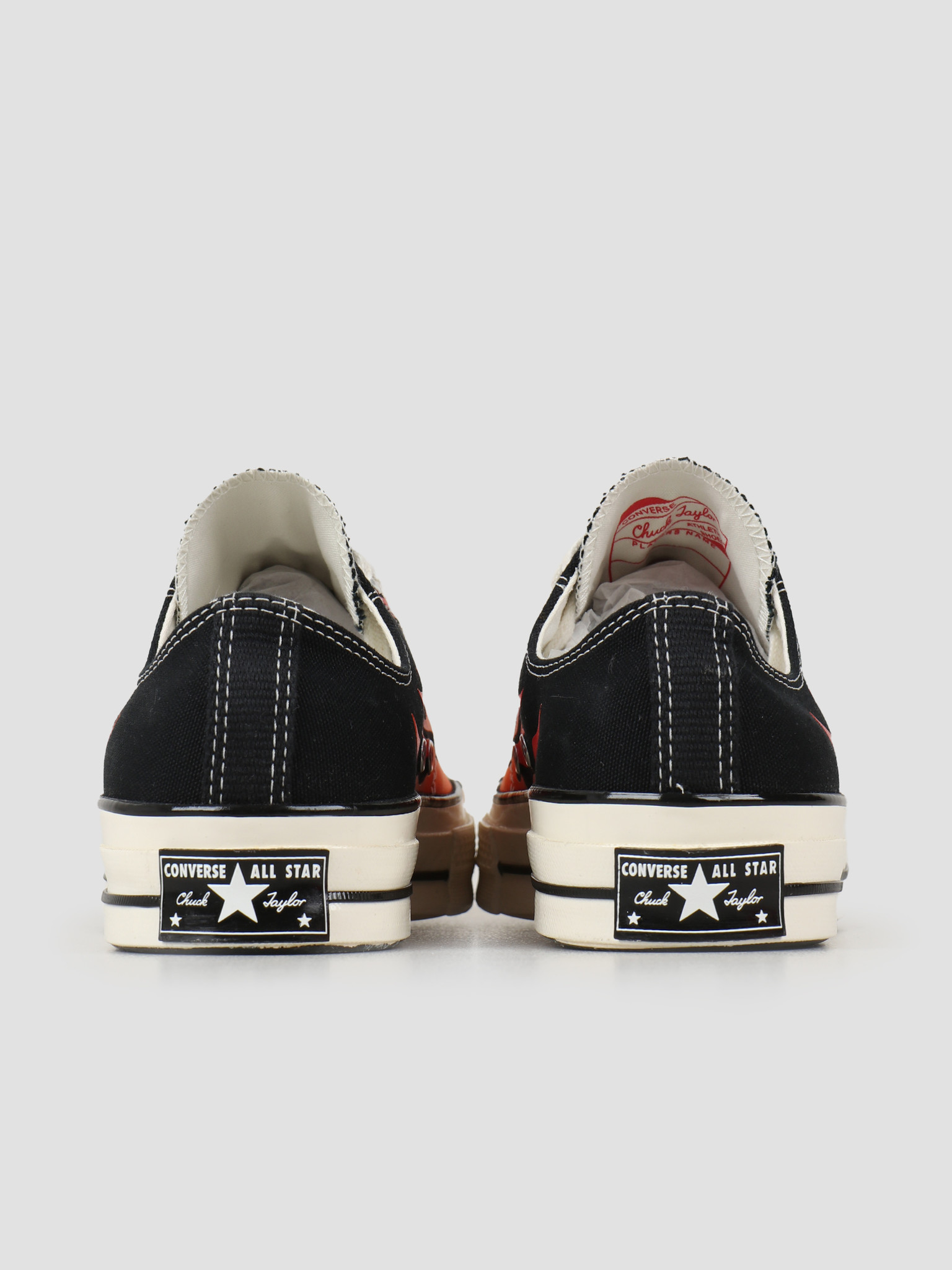 Converse Converse Chuck 70 Ox Black Enamel Red Egret 167813C
