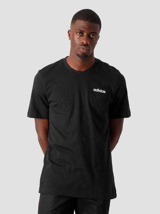 adidas E Plain T-Shirt Black White DU0367