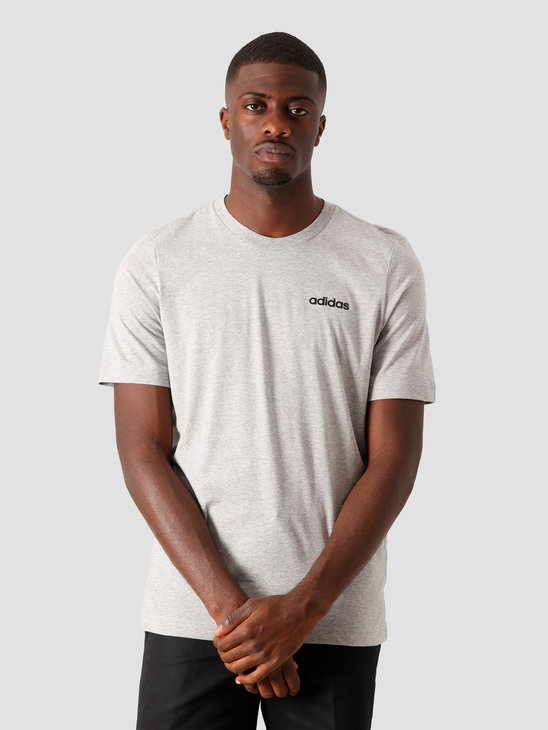 adidas E Plain T-Shirt Grey Black DU0382