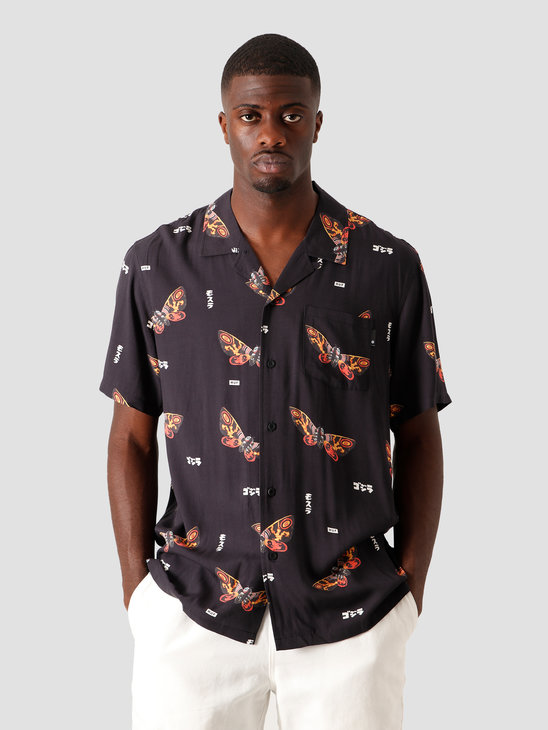 HUF Mothra Resort Shirt Black BU00100