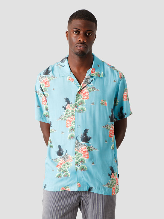 HUF Godzilla Resort Shirt Blue BU00101