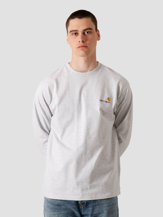 Carhartt WIP Longsleeve American Script T-Shirt Ash Heather I025712