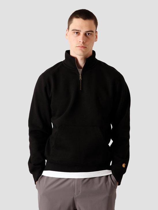 Carhartt WIP Chase Neck Zip Sweat Black Gold I027038