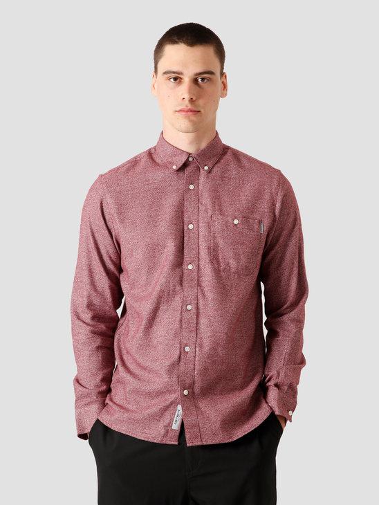 Carhartt WIP Longsleeve Corey Shirt Bordeaux I028224-JD00