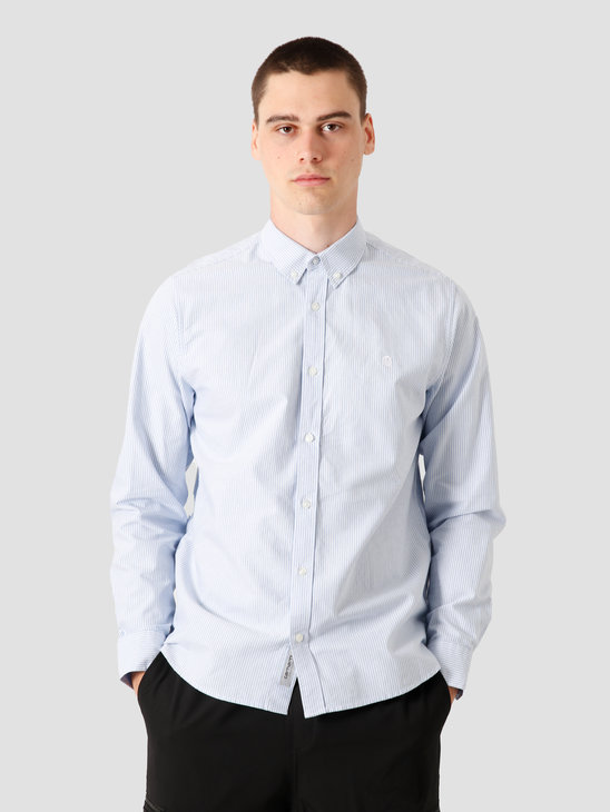 Carhartt WIP Duffield Shirt Duffield Stripe Bleach White I025245-KY90