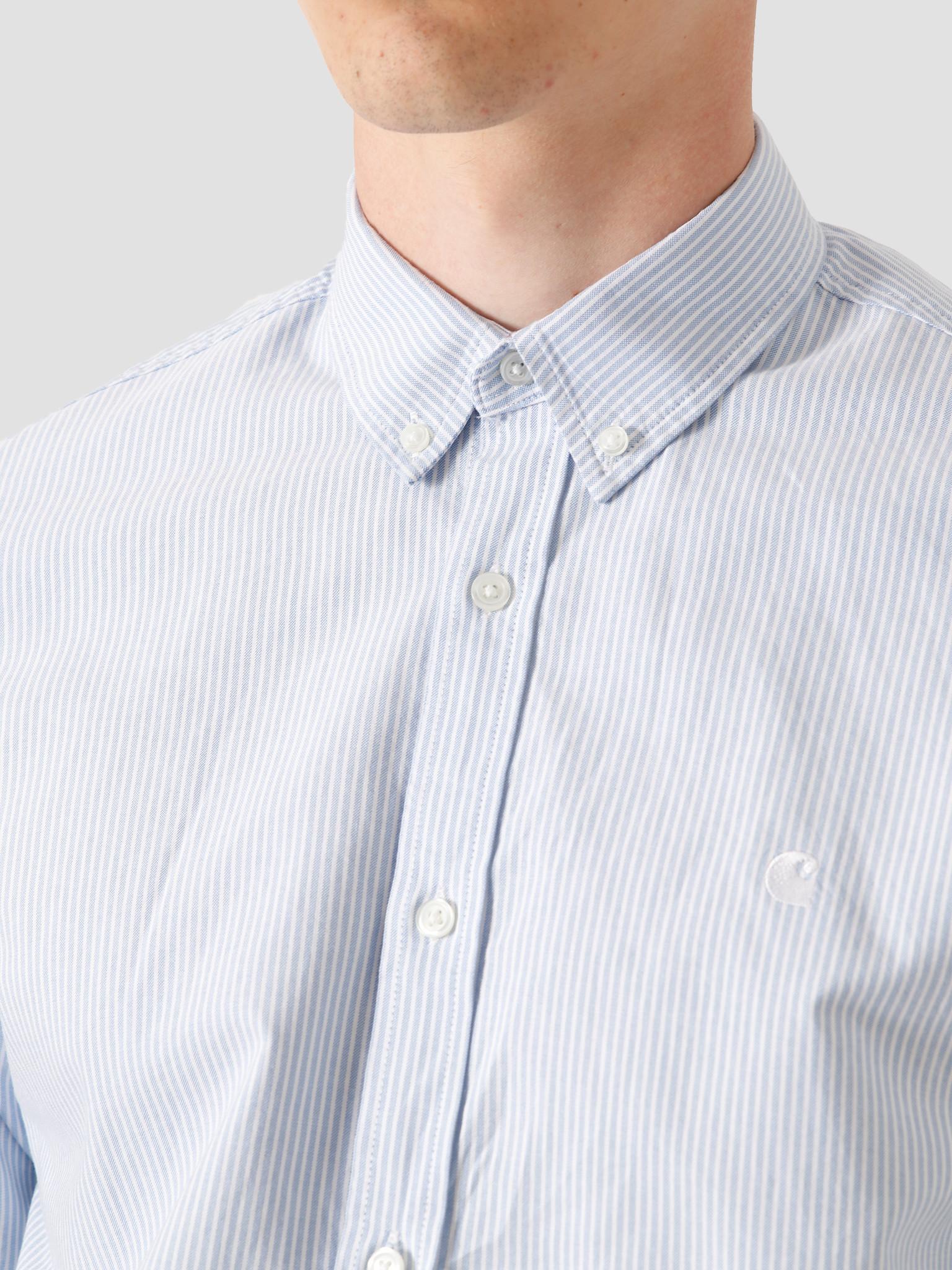 Carhartt WIP Carhartt WIP Duffield Shirt Duffield Stripe Bleach White I025245-KY90