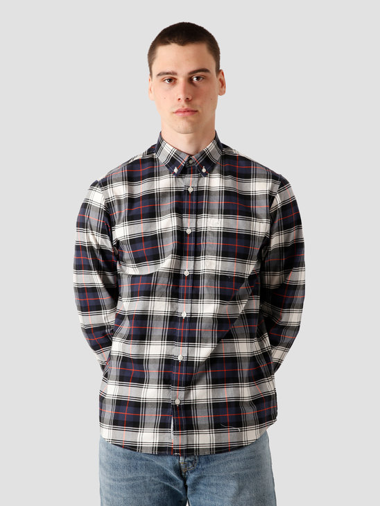 Carhartt WIP Steen Longsleeve Shirt Steen Check, Blue I028227-190