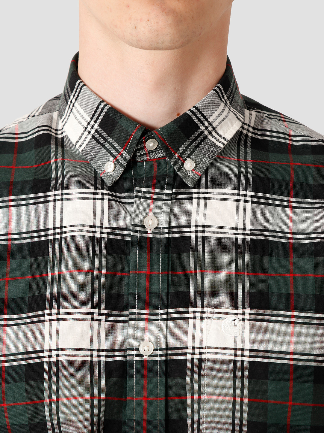 Carhartt WIP Carhartt WIP Steen Longsleeve Shirt Steen Check, Bottle Green I028227-3C90