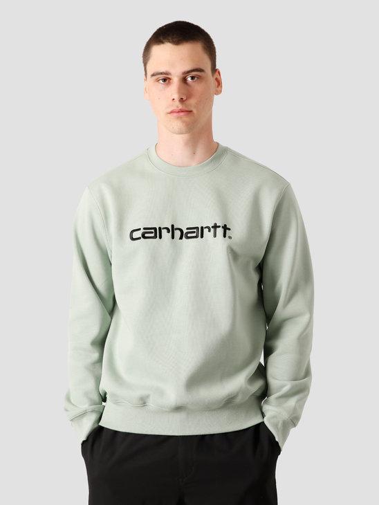 Carhartt WIP Carhartt Sweat Frosted Green Black I027092-0F390