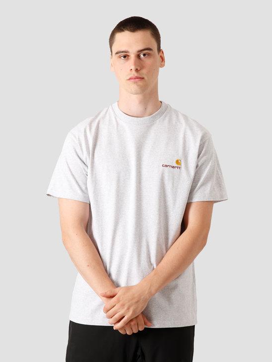 Carhartt WIP American Script T-Shirt Ash Heather I025711