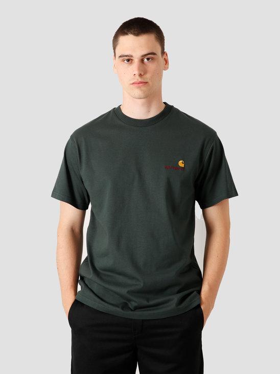Carhartt WIP American Script T-Shirt Dark Teal I025711-0F200