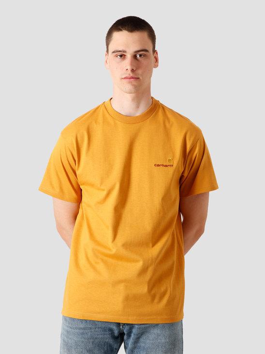 Carhartt WIP American Script T-Shirt Winter Sun I025711-0G100