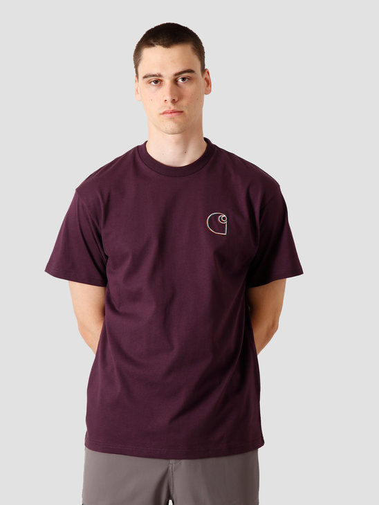 Carhartt WIP Commission Logo T-Shirt Boysenberry I028460-0E800