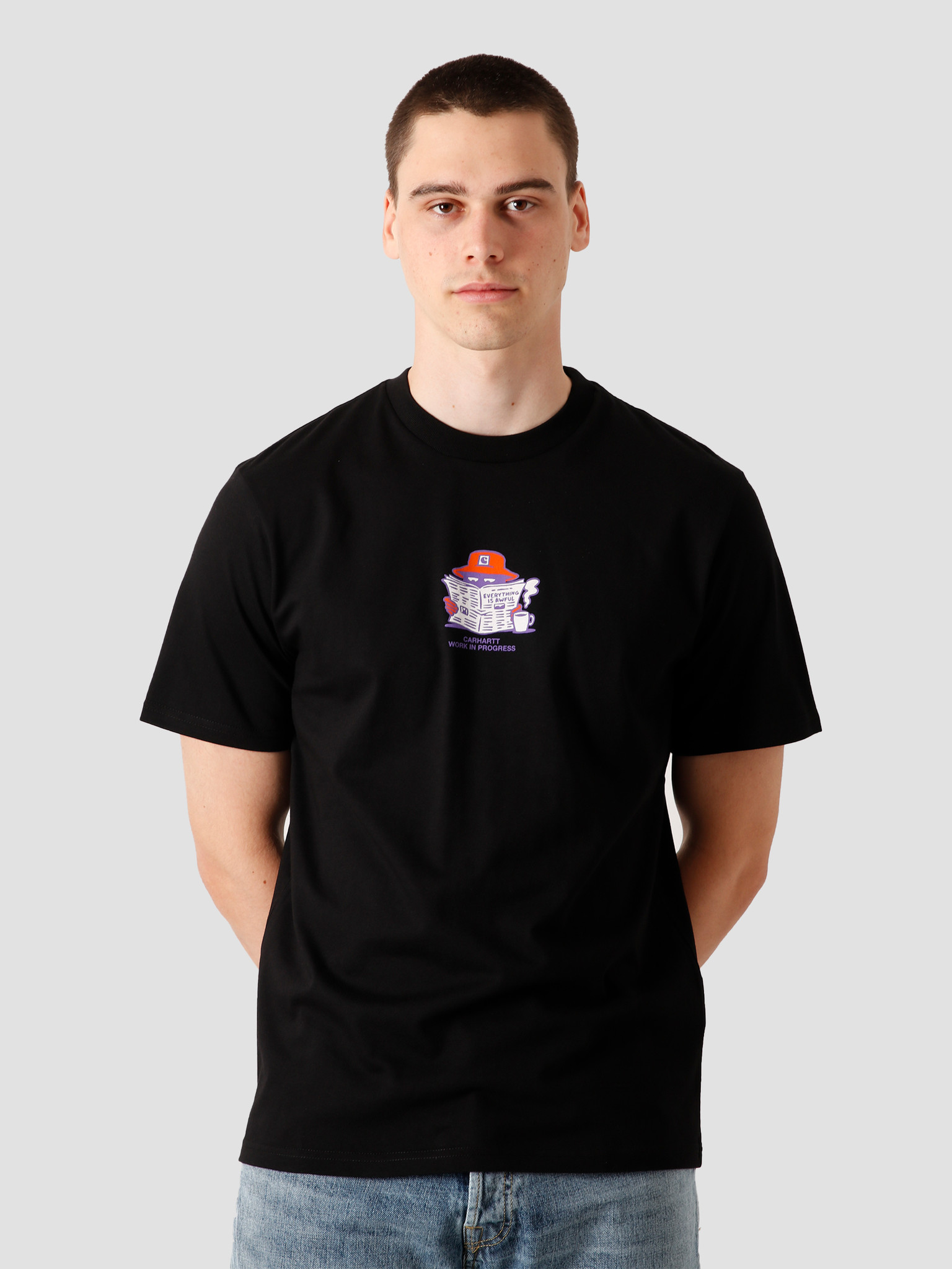 Carhartt WIP Carhartt WIP Everything Is Awful T-S Black I028742-8900