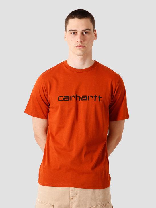 Carhartt WIP Script T-Shirt Cinnamon Black I023803-0F090