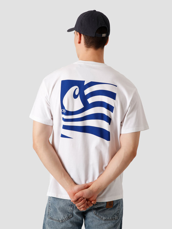 Carhartt WIP Waving State Flag T-Shirt White Lapis I028437-290