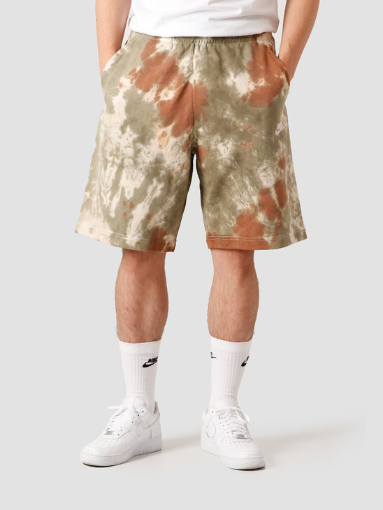 Nike Nsw Short FT Dye Medium Olive Medium Olive White CZ7854-222