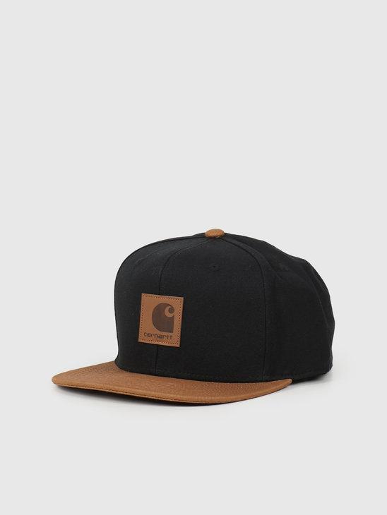 Carhartt WIP Logo Cap Bi Colored Black Hamilton Brown I025735