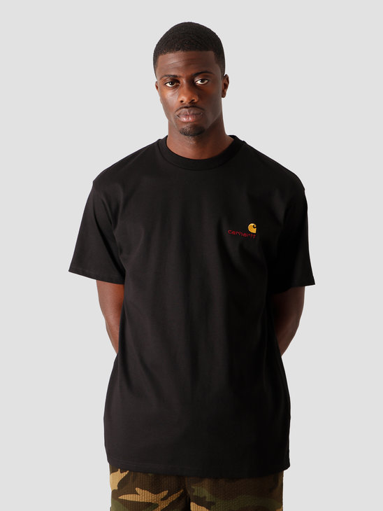 Carhartt WIP American Script T-Shirt Black I025711