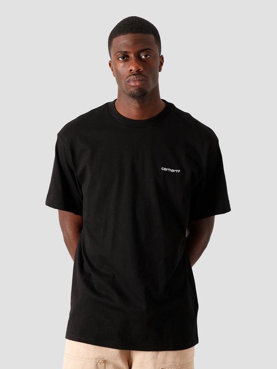 Carhartt WIP Script Embroidery Shirt Black White I025778