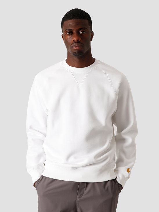 Carhartt WIP Chase Sweat White Gold I026383-290