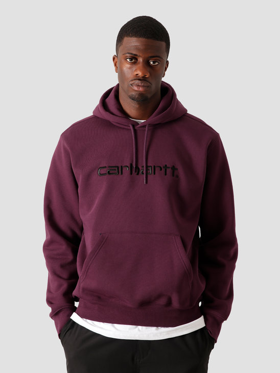 Carhartt WIP Hooded Carhartt Sweat Boysenberry Black I027093-0E890