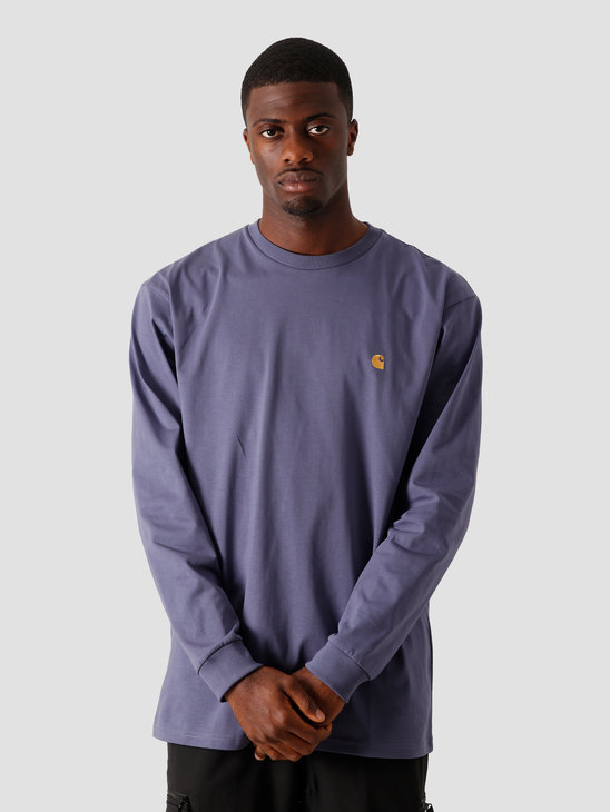 Carhartt WIP Longsleeve Chase T-Shirt Cold Viola Gold I026392-0F190