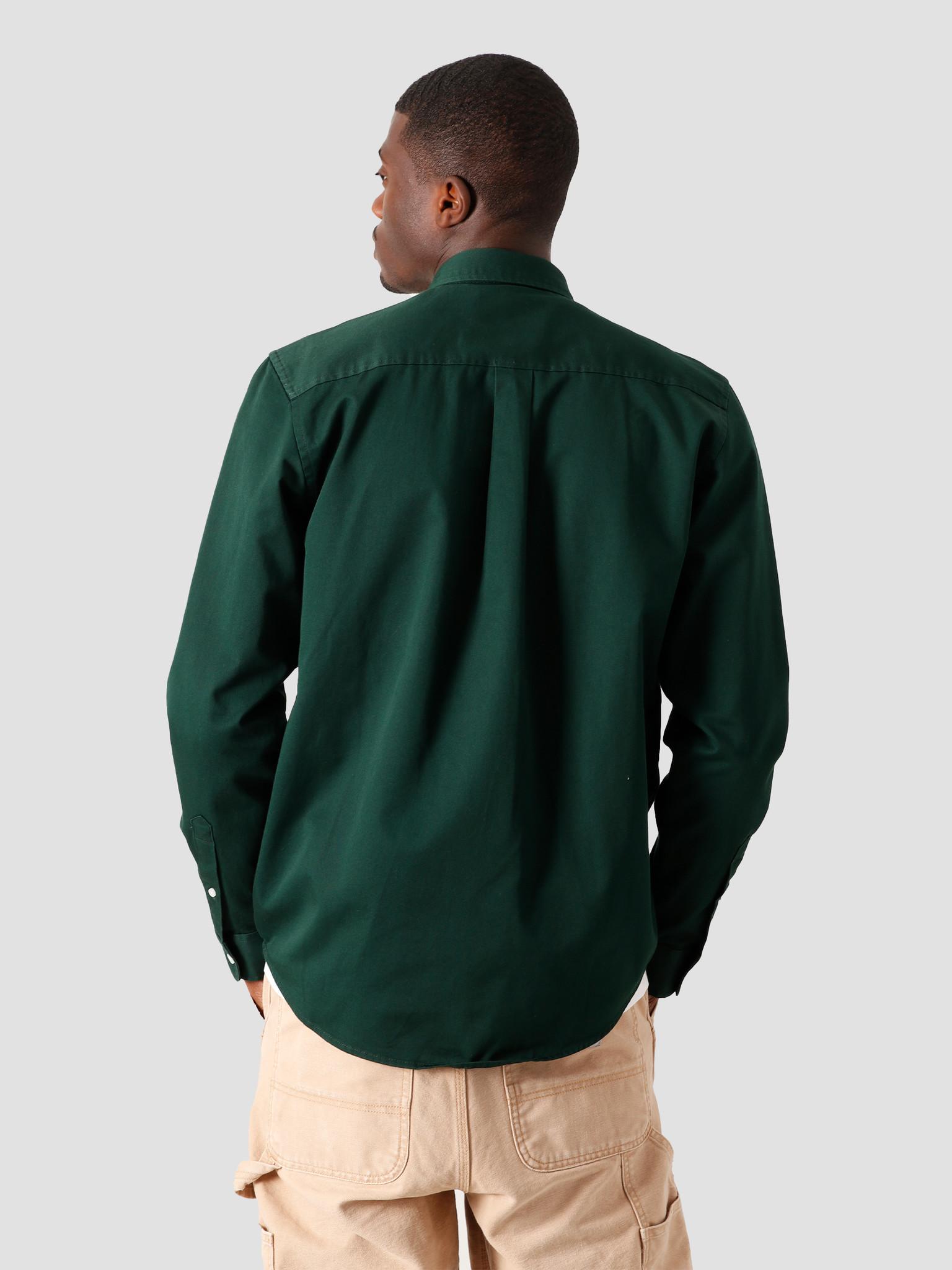 Carhartt WIP Carhartt WIP Longsleeve Madison Shirt Bottle Green Wax I023339-3C90