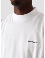 Carhartt WIP Carhartt WIP Longsleeve Mockneck Script Embro T-S White Black I027040-290