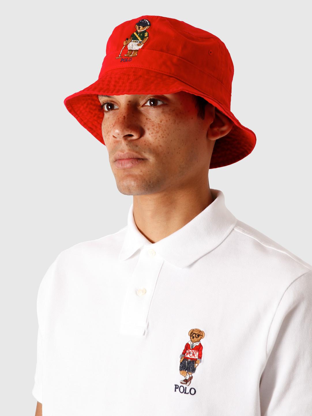 Polo Ralph Lauren Polo Ralph Lauren Loft Bucket Hat With Bear Rl2000 Red 710798509001