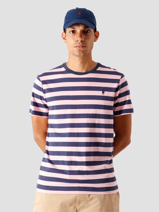 Polo Ralph Lauren 26-1'S Jersey T-Shirt Boathouse Navy-Garden Pink 710803479003