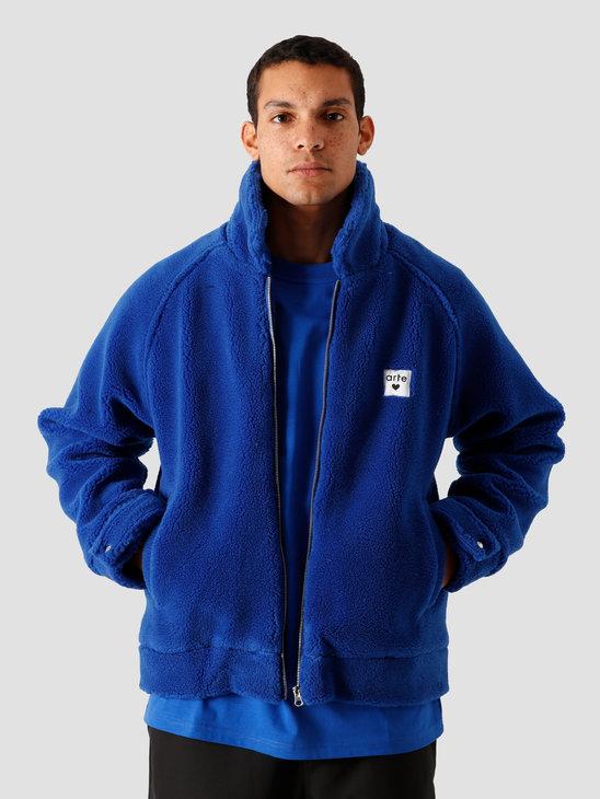 Arte Antwerp Jake Sherpa Jacket Jacket Royal Blue AW20-064J