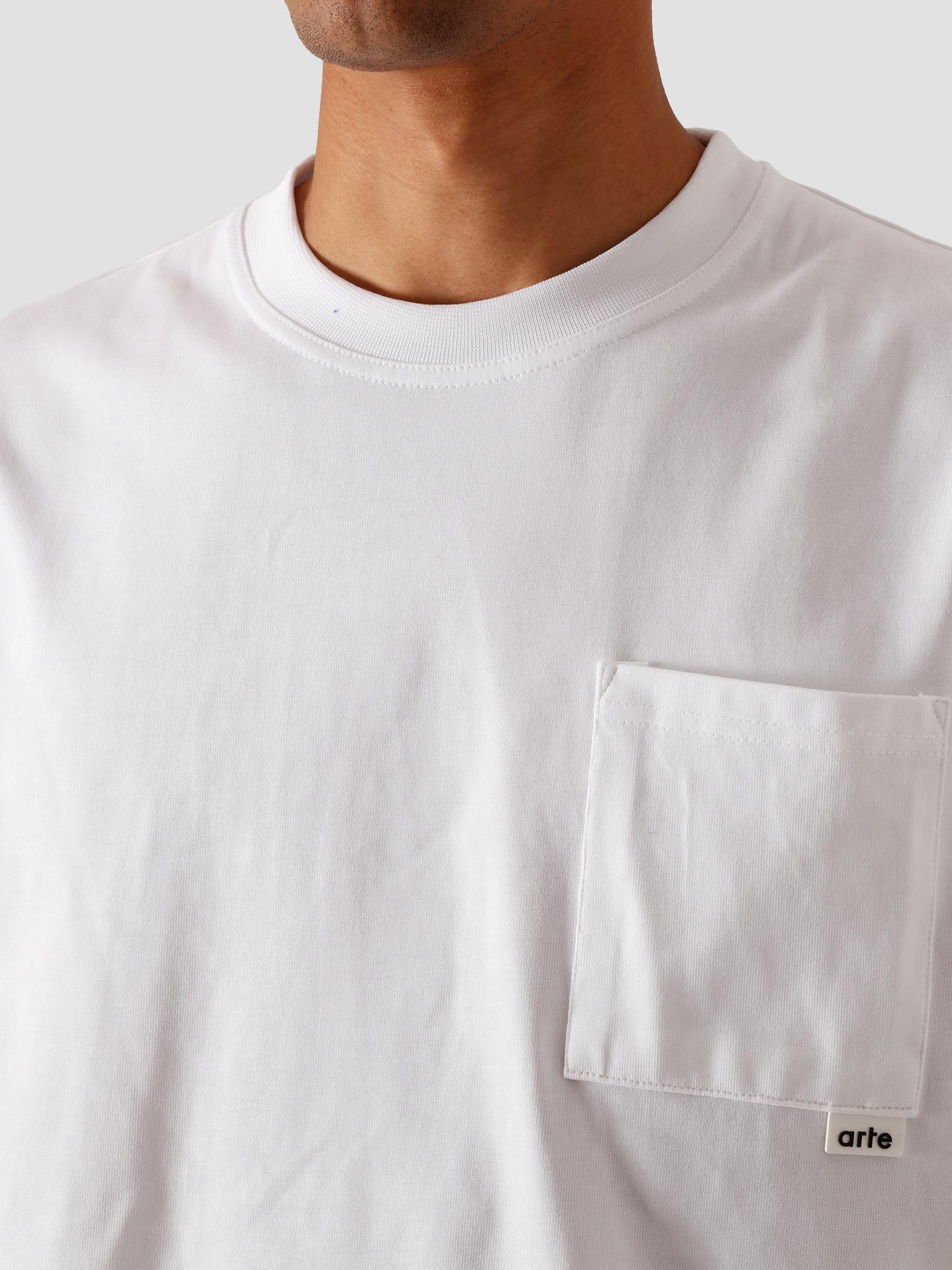 Arte Antwerp Arte Antwerp Tibo Pocket T-Shirt White AW20-004T