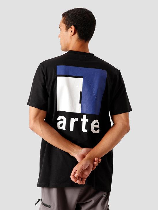 Arte Antwerp Toby A Back T-Shirt Black AW20-057T